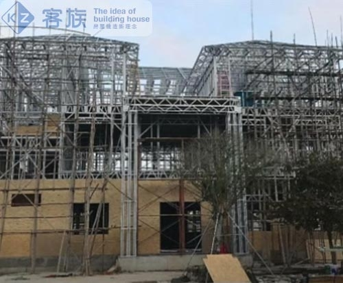 轻钢别墅揭阳项目,造价比传统别墅低