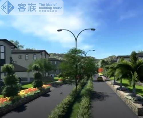 轻钢别墅小区,犹如世外桃源花园,日式风格
